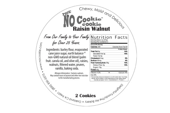 vegan raisin walnut